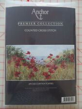 Anchor Premier Counted Cross Stitch Kit CLIFFTOP POPPIES APC940~ NIP