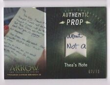 Cryptozoic Arrow Season 3 prop card PR2 Thea's Note 02/19