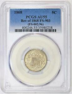 1868 Rev of 1868 Shield Nickel PCGS AU-55; FS-903