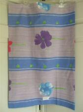 One Queen / Full Size Pillow Case Vintage Retro Unused Flower Green Blue Lilac