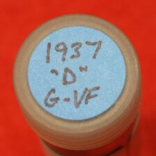 1937-D LINCOLN WHEAT CENT PENNY 50 COIN ROLL G-VF COLLECTOR COINS GIFT R4