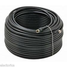 100' ft RG-6 SATELLITE COAXIAL CABLE RG6 HD CONNECTOR WIRE TV BELL DISH OTA COAX