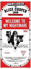 Alice Cooper POSTER Welcome To My Nightmare *RARE IMAGE* MOVIE/FILM Poster