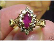 Ring Size 6 Pretty Ruby & Diamond