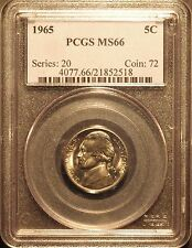 1965 Jefferson Nickel - Business Strike   PCGS MS66  #2518