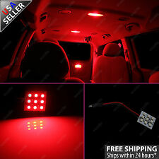 2x Red 9-SMD LED Panel Light for Interior Map Dome Step Door Trunk Lights