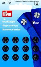Prym 12 Druckknöpfe zum Annähen 9 mm schwarz 341164