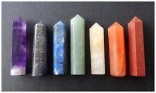 7 PC CHAKRA Single Terminated PENCIL POINT 40 gram SET Gemstone CRYSTAL Healing