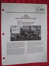 1986 DEUTZ ALLIS NEW 611 SPECIAL LAWN TRACTOR DEALER LITERATURE / BULLETIN