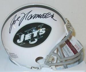 NY Jets Hall of Famer Joe Namath Signed Mini Helmet Auto  - JSA