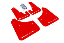 RallyArmor Red Mud Flaps (White Logo) for 04-09 Mazda 3/ Speed 3