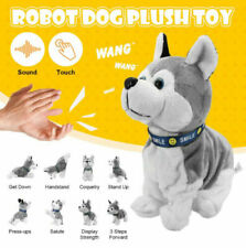 Sound Control Electronic Dogs Robot Puppy Bark Stand Walk 8 Movements Plush Toy