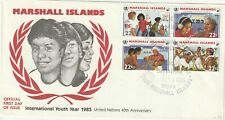 1985 Marshall Islands FDC cover International Youth Year