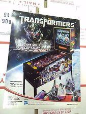 transformers pinball arcade flyer