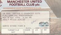 Ticket - Manchester United v Coventry City 08.04.96