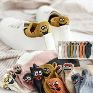 Novelty Cute Embroidered Expression Women Cotton Socks Fashion Ankle Funny Socks