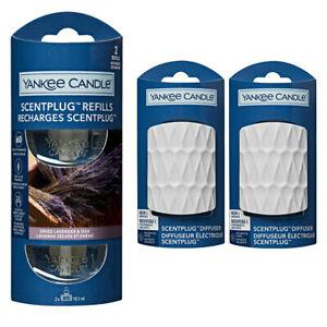 2 x WHITE plugs/REFILLS YANKEE CANDLE Plug In - DRIED LAVENDER & OAK STARTER SET