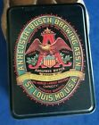 VINTAGE ANHEUSER BUSCH BREWING BEER 2 DECKS PLAYING CARDS COLLECTOR TIN NEW