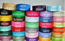 "34 yards 5/8""grosgrain ribbon solid color , wholesale grosgrain ribbon lot"