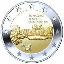 2019 Malta € 2 Euro UNC Coin UNESCO World Heritage: Ta'Hagrat Temples