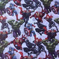 "Comics hero FQ, cotton fabric retro comics fabrics 18"" x 22"" , Marvel hero"
