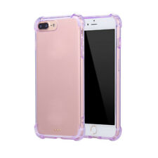 For iPhone 5 6 6S 7 Plus Case Clear Hybrid Slim Shockproof Soft TPU Bumper Cover