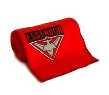 AFL Essendon Bombers Polar Fleece Throw w/ Embroidered Logo Official AFL Product