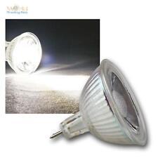 Mr16 Lámpara LED, 5w COB BLANCO LUZ FRÍA 420lm focos, Bombillas Foco, 12v GU5, 3