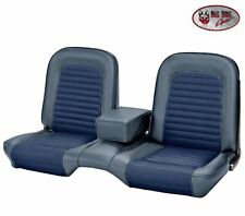 1966 Ford Mustang Coupe Blue Front & Rear Bench Seat Upholstery by TMI, USA