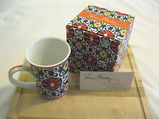 "Vera Bradley SUN VALLEY Coffee TEA Mug CUP 8OZ ""NEW IN BOX"" Porcelain DRINK  NWT"
