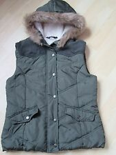 Dorothy Perkins green hooded Parka-style Gilet - size 10 - BNWOT