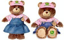 "NEW Build A Bear LTD John Deere Girl Teddy Bear 16"" Stuffed Plush Toy JDBear13"