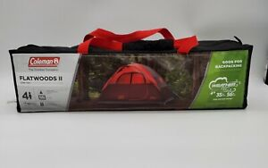 Coleman Flatwoods II 4 Person Tent - Red New in Package