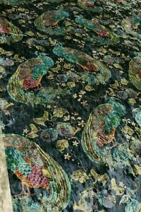 Art Of The Loom Peacock Opulence Curtain/Upholstery Fabric 1.3 Metre