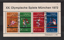 Germany 1972 - SUMMER OLYMPIC GAMES MUNICH  Souvenier Block  SST Discus throw