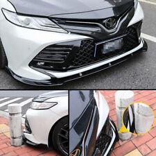 Car Front Bumper Splitter Lip Cover Trim For Toyota Camry 2018-2019 Gloss Black