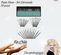 Punte frese set universale 30 pezzi - Ricostruzione unghie Nail Art