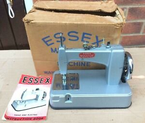 Essex MK2 Child,miniature/toy chain stitch sewing machine and instruction manual
