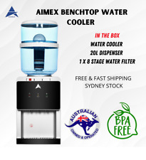 Aimex Benchtop Water Cooler Hot Cold 20L Water Dispenser 8 Stage Water Filter