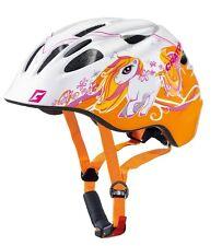 Cratoni Kinder Fahrradhelm Akino Pony weiß orange Rücklicht Gr.M 53-58cm NEU