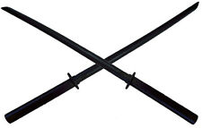 "NEW PAIR (2) Wooden 40"" Black Bokken Practice Training Daito Sword Katana"