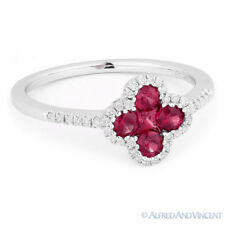 Right-Hand Flower Ring 14k Whi