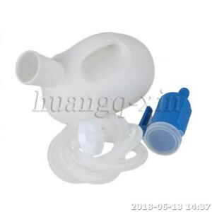 Male Urine Bottle A type PP A type PP 22cm x 14cm Bule and Milk White