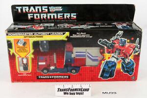 Optimus Prime w/box Powermasters 1988 Vintage Hasbro G1 Transformers