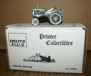 Allis Chalmers B Tractor 1:43 Spec Cast Pewter Toy DAC2 Lt Ed 1/7500 Deutz 1990s
