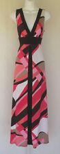 BISOU BISOU MICHELE BOHBOT DRESS MOD STYLE BELT MULTI COLOR SIZE 6 POLY SPANDEX