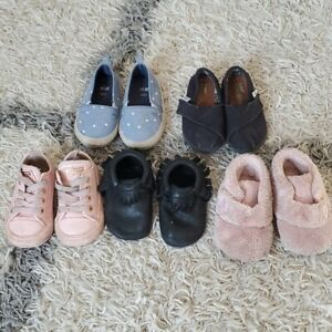 Lot* toddler baby girl shoes Ugg Freshly Picked Converse Toms 4/5