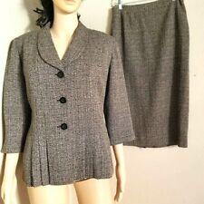 Women''s Danny & Nicole 2 Piece Brown Skirt Suit, Size 8