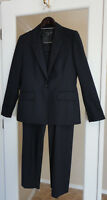 Anne Klein New Navy Blue Pinstripe Suit Pants Jacket Lined Size 10 Beautiful!