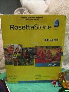VINTAGE ROSETTA STONE ITALIAN LEVEL 1 2010 NEW NEVER OPENED FANTASTIC SOFTWARE!!
